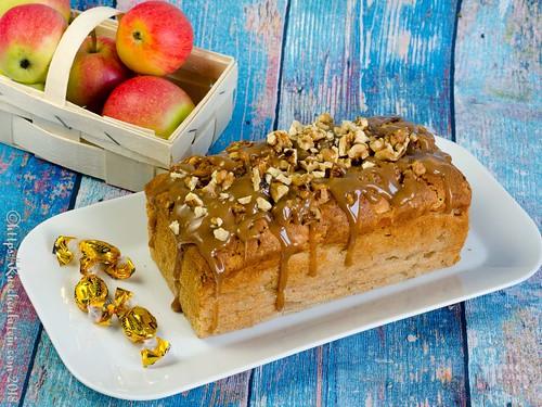 Apfel-Karamellkuchen aus der Kastenform (2)