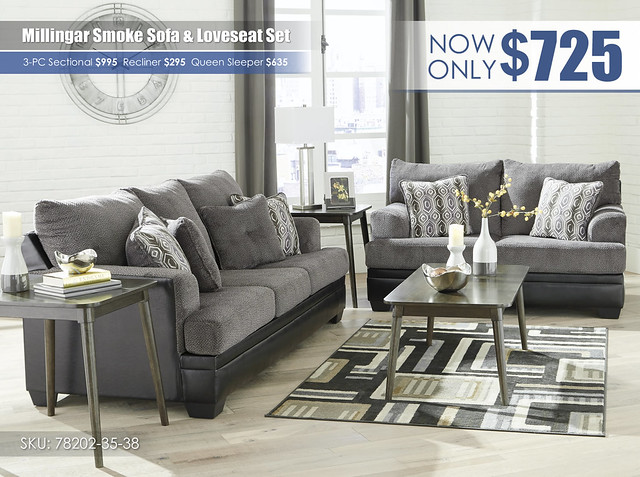 Millingar Smoke Sofa & Loveseat_78202-38-35-T276