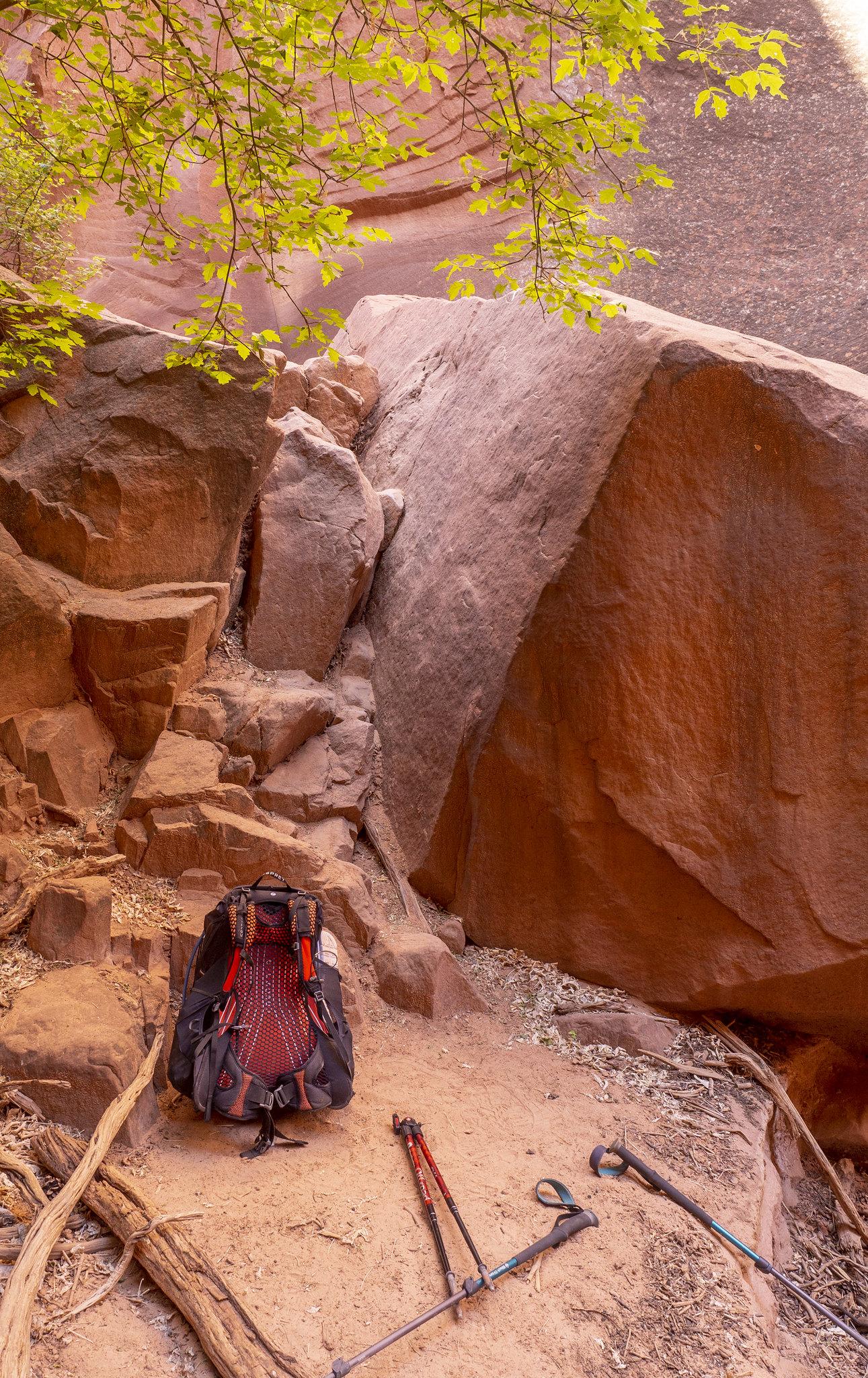 Kleine Kletterstelle