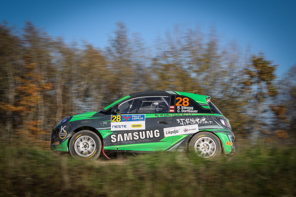 28 STENGG Roland , (AUT), Claudia DORFBAUER, (AUT), Stengg Motorsport, Opel Adam R2, Action during the 2018 European Rally Championship ERC Liepaja rally,  from october 12 to 14, at Liepaja, Lettonie - Photo Alexandre Guillaumot / DPPI