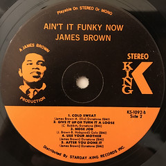 JAMES BROWN:AIN'T IT FUNKY(LABEL SIDE-B)