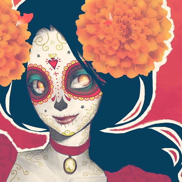 La Muerte close up