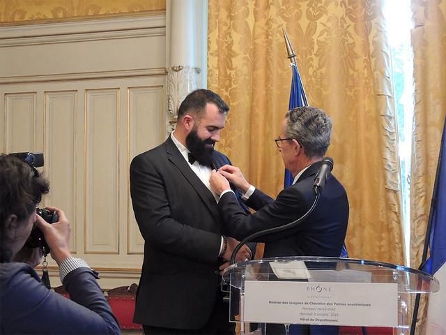 Remise des Palmes académiques à M. Hervé Diaz