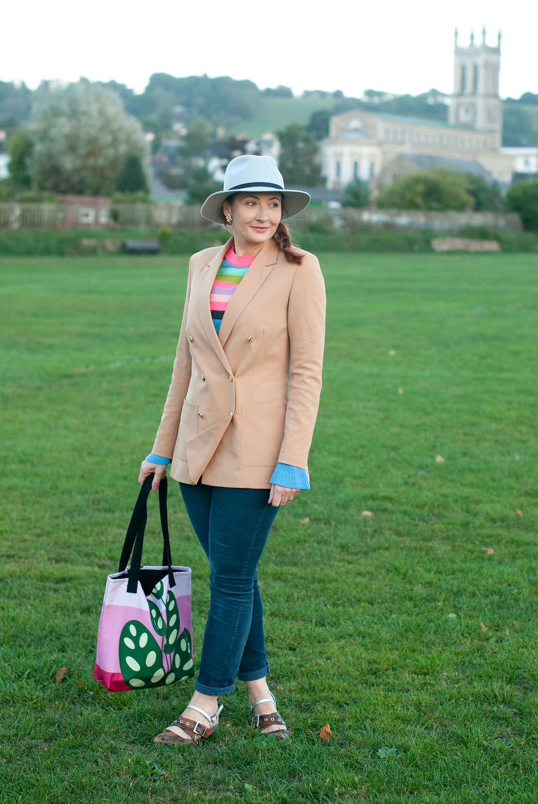 Smart Casual Autumnal Jeans and Blazer Outfit | Not Dressed As Lamb, over 40 style