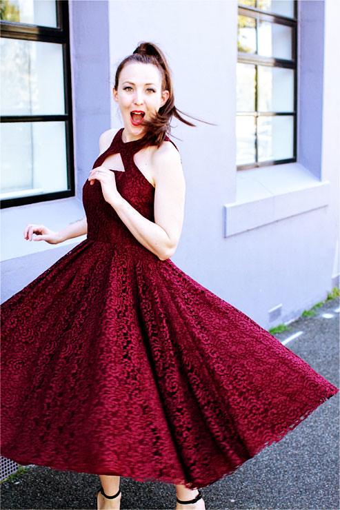 Wine Dress #6