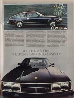 1980 Toyota Celica Supra Advertisement Time Magazine November 12 1979