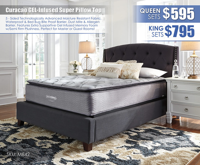 Curaco Super Pillow Top Gel Infused Mattress_M842
