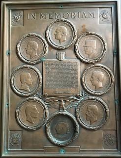WWI In Memoriam plaque