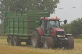 Case IH Puma 215 Tractor with a Broughan Engineering Mega HiSpeed Trailer