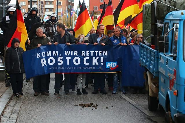 AfD-Demo Rostock & Gegenproteste