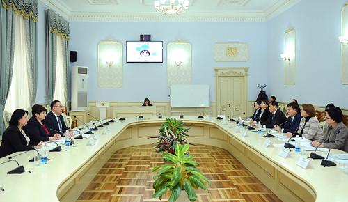 """11.10.2018 Participarea la evenimentul dedicat proiectului """"Mediul familial de susținere pentru copiii din Republica Kârgâză"""", Bișkek, Republica Kârgâză."""
