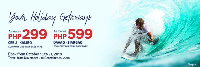Promo Flights from Cebu and Davao
