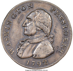 1792 Washington Silver Pattern, Lettered Edge obverse
