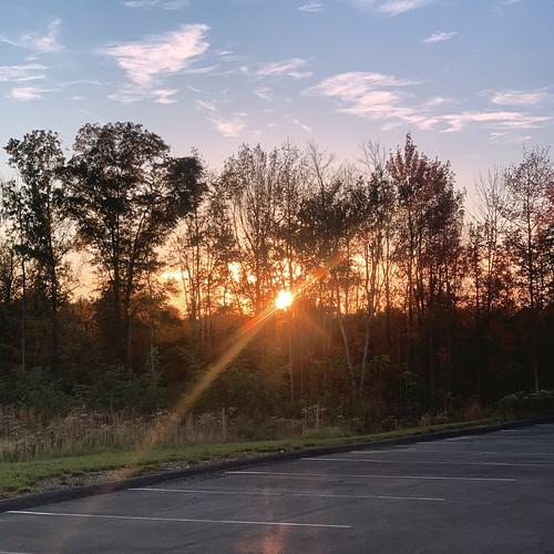 sunset lensflare