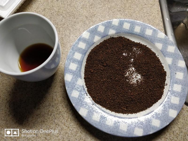 コーヒーかすを乾燥させて日を付けたら蚊取り線香になるらしい (1)