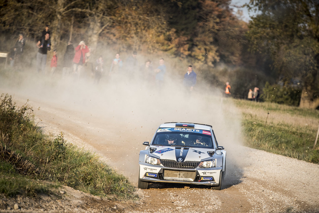 04 AVCIOGLU Orhan, (TUR), Burcin KORKMAZ, (TUR), TOKSPORT WRT, Skoda Fabia R5, Action during the 2018 European Rally Championship ERC Liepaja rally,  from october 12 to 14, at Liepaja, Lettonie - Photo Gregory Lenormand / DPPI
