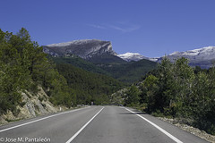 1-Llegando a los Pirineos Aragonés detrás de los quebrantahuesos! Desde el coche de mi amigo José Ma