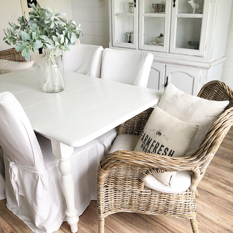 New Dining Chairs Wicker Parsons