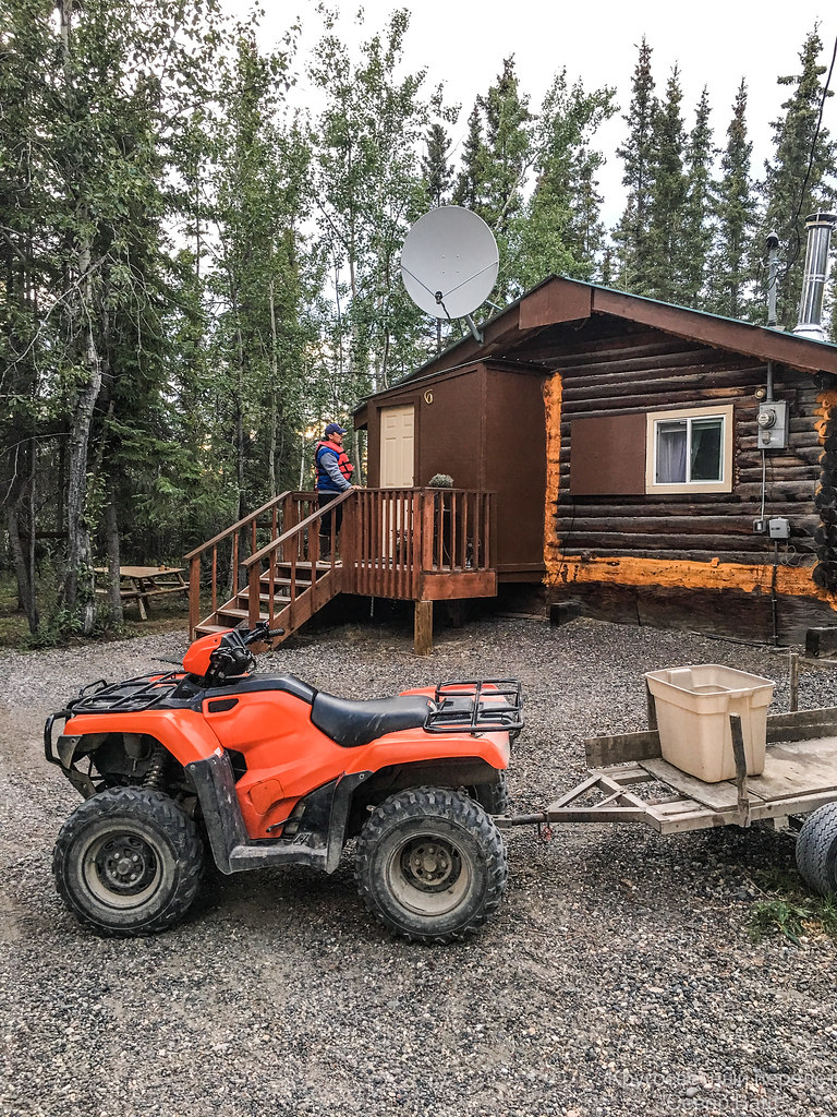 Дома местных жителей в Fort Yukon