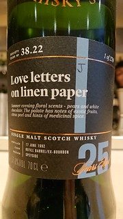 SMWS 38.22 - Love letters on linen paper