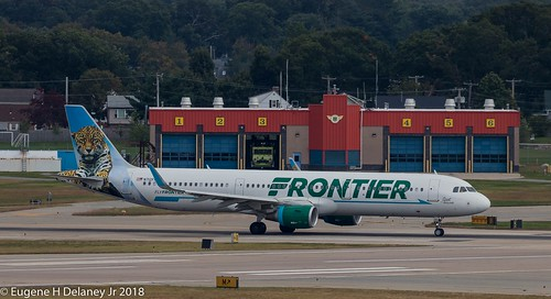 "Frontier Airlines, N712FR, 2016 Airbus A321-211 WL, MSN 7204, FN 712, ""Spot the Jaguar"""