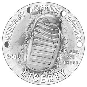 Apollo 11 coin design
