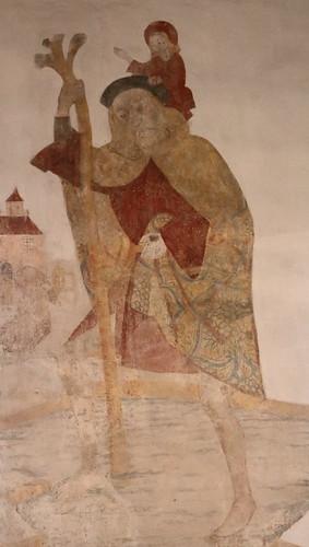 Wansleben am See, Kirche St. Andreas und Stephani, Fresko (Ausschnitt)
