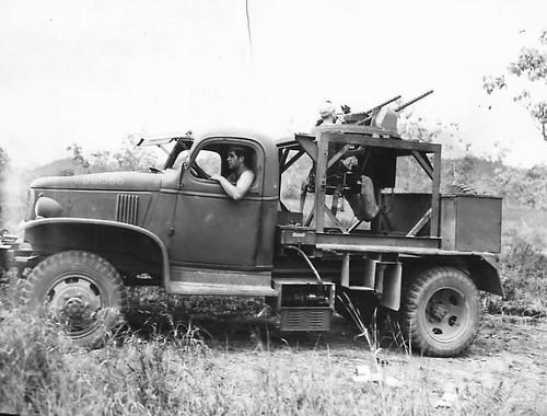 US Chevrolet E-5 turret training truck in New Guinea