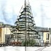 This year's Christmas tree, still being built... (Hansaplatz, Dortmund, Germany)