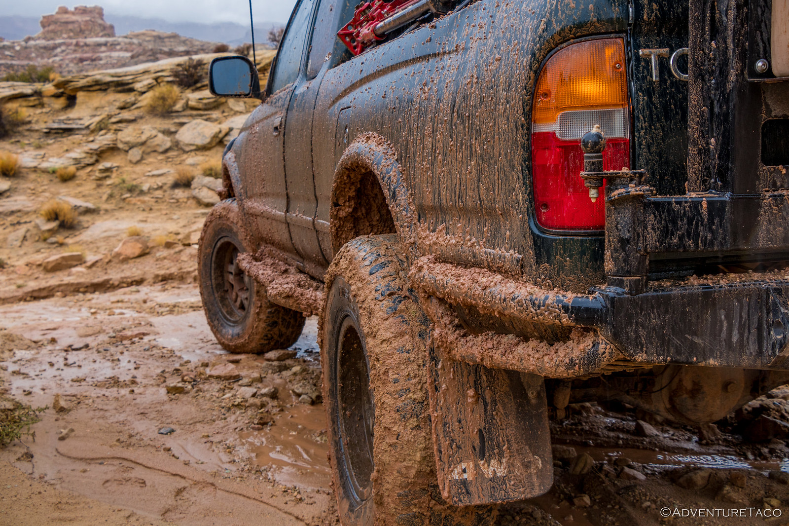 toyota tacoma covered in mud