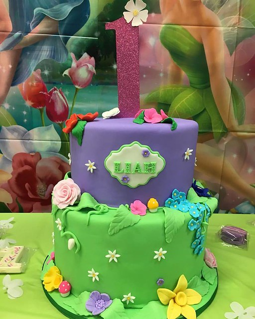 Tinkerbell Inspired Cake by Jessweets