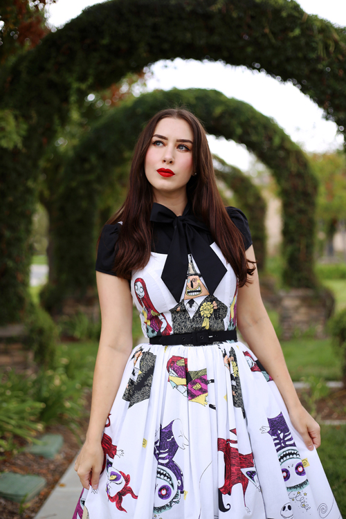 Vintage Inspired by Jackie Nightmare Before Christmas Dress Heart of Haute Estelle Top in Black