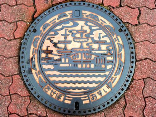 Sasebo Nagasaki, manhole cover (長崎県佐世保市のマンホール)