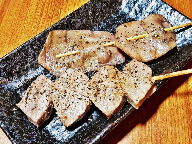 Skewers - Beef With Salt And Pepper, Ox Tongue