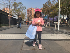 Our little fashionista hitting the high street with her new shoes
