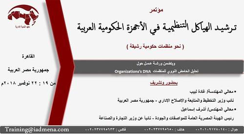 مؤتمر ترشيد الهياكل التنظيمية في الأجهزة الحكومية العربية