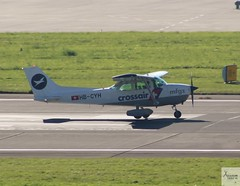 Motorfluggruppe Zürich C172P Skyhawk II HB-CYH landing at ZRH/LSZH