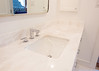 Bathroom in Mystery White Marble