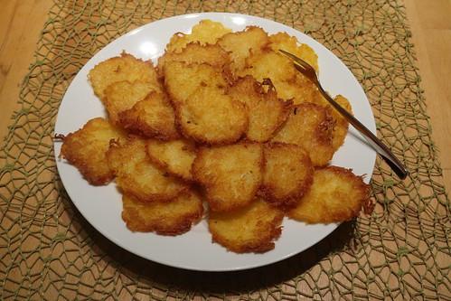 Kleine Kartoffelpuffer aus 750g Kartoffelpufferteig