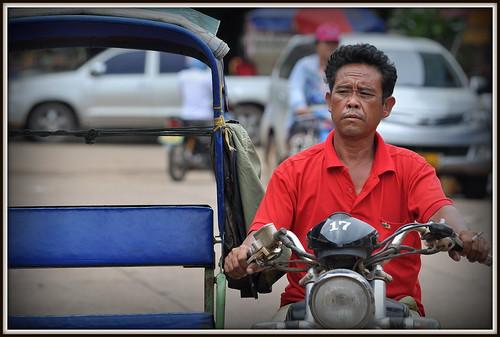 Tuk Tuk de Paksé au Laos .