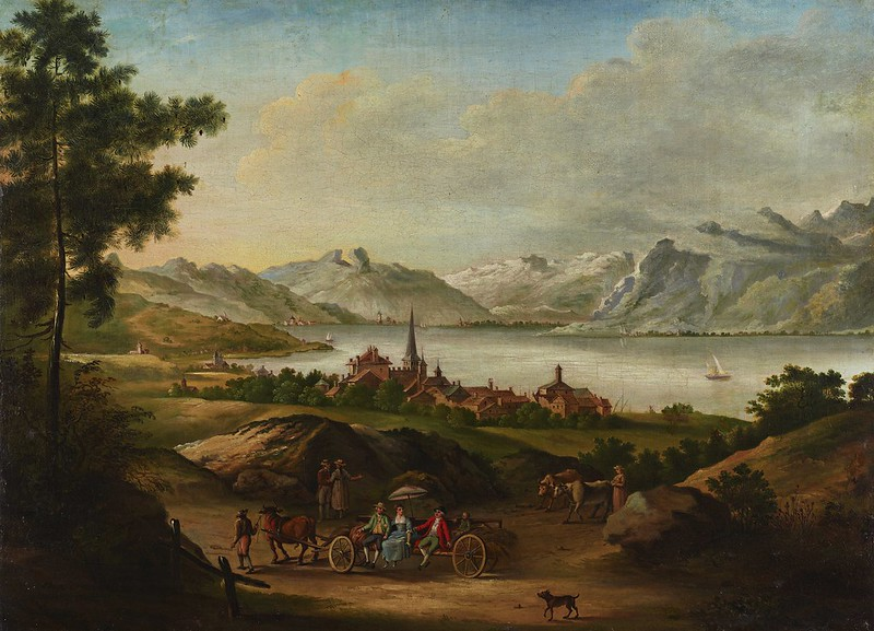Alexis Nicolas Perignon - Vue du fond du Lac de Genève prise au dessus de Cucille