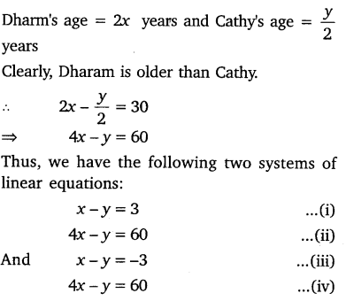 NCERT Solutions for Class 10 Maths Chapter 3 Pair of Linear Equations in Two Variables e7 1
