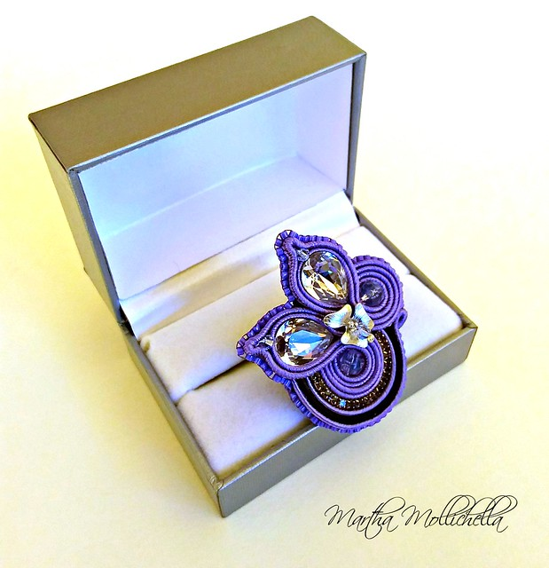 soutache handmade ring soutache jewelry