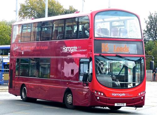 X14 VTD 'The Harrogate Bus Company' No. 3614. Volvo B7TL / Wright Eclipse Gemini on Dennis Basford's railsroadsrunways.blogspot.co.uk'