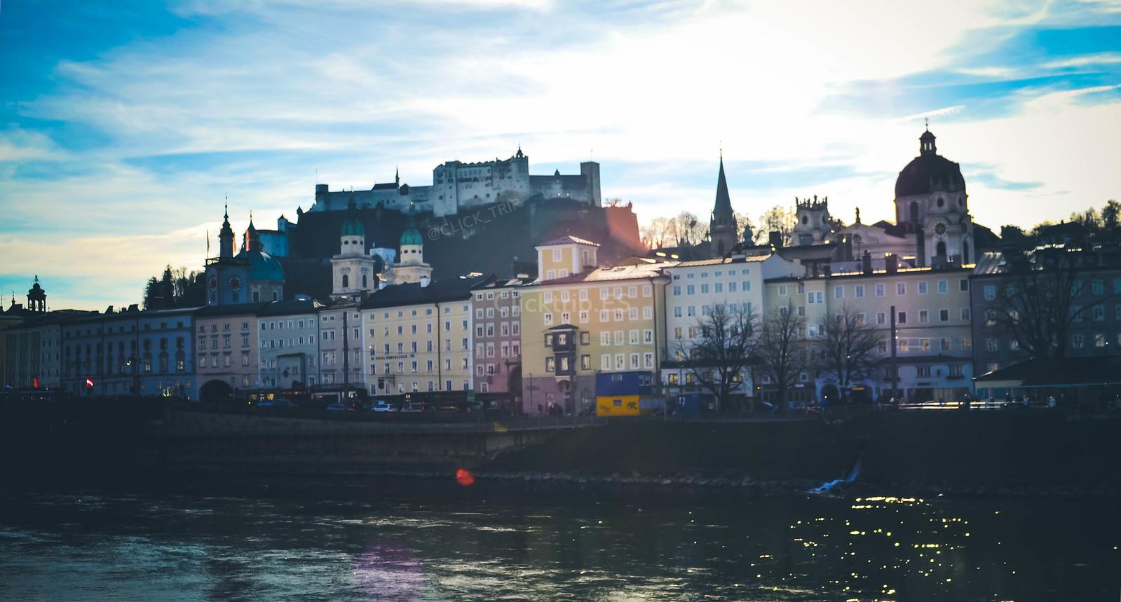 · Qué ver en Salzburgo en un día · Vistas de Salzburgo desde el Río Salzach · Austria · Salzburg · Click_Trip ·