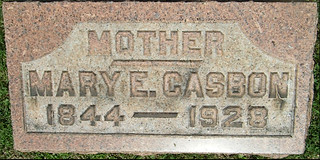 Mary grave marker