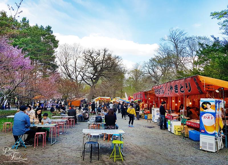 maruyama park food area