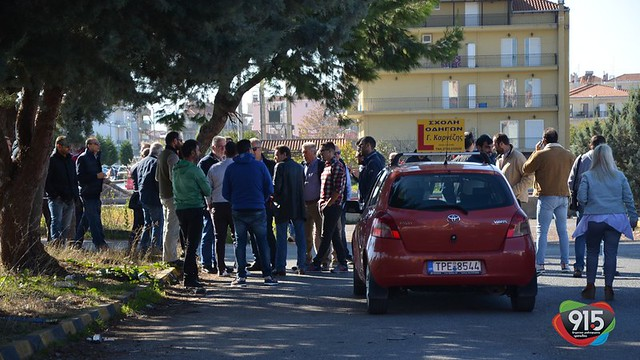 διαμαρτυρίας από εκπαιδευτές οδηγούς στην Τρίπολη