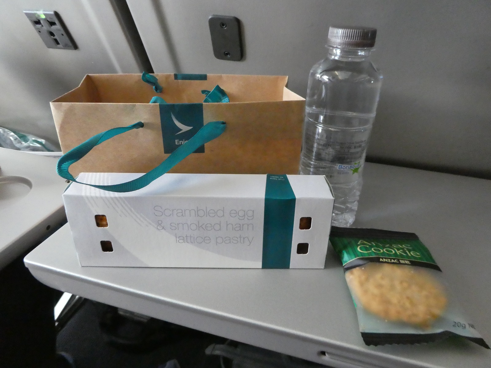 Our snack meal on board our Cathay Pacific flight from Hong Kong to Manila
