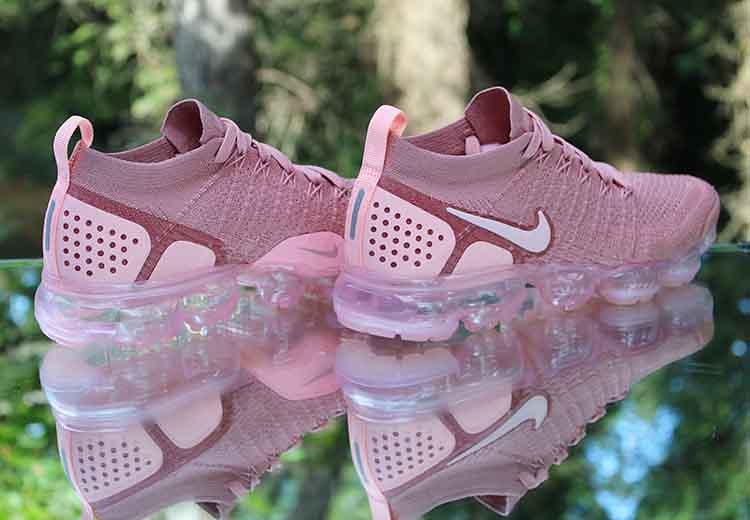 0d226eba5fa ... Nike Air VaporMax Flyknit 2 Rust Pink 942843-600 Women s Size 8.5